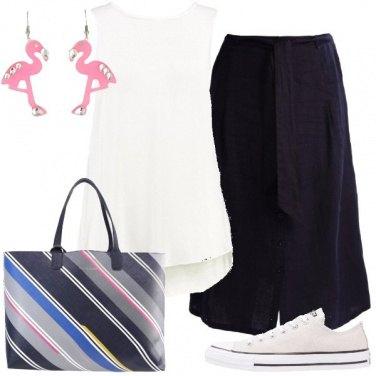 Outfit Il fenicottero rosa