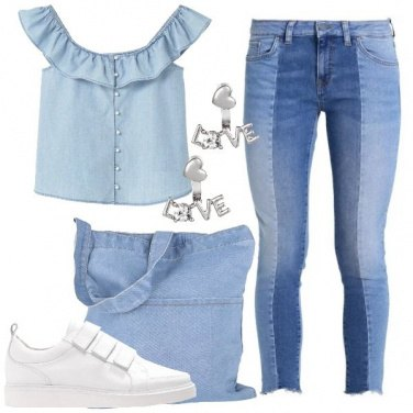 Outfit Sfumature di denim
