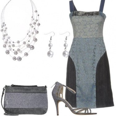 Outfit Denim e perle