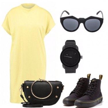 Outfit L\'abito giallo di cotone