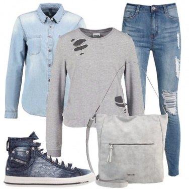 Outfit Denim su denim