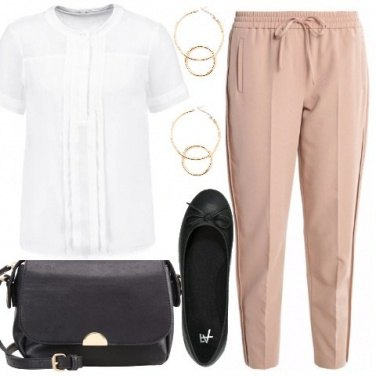 Outfit Beige e bianco