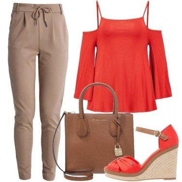 Outfit La borsa griffata