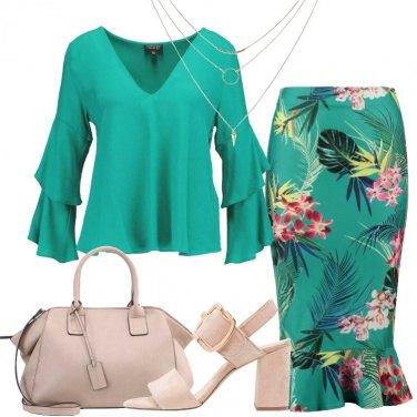 Outfit Verde per l\'ufficio