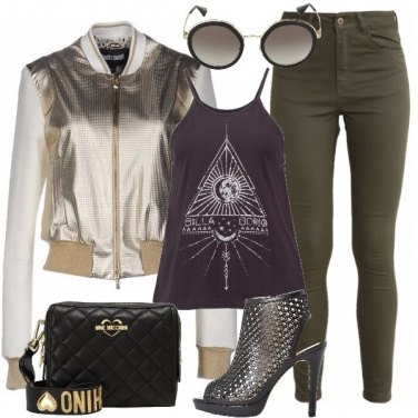 Outfit Oro urbano
