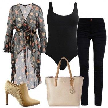 Outfit Fiori sul nero