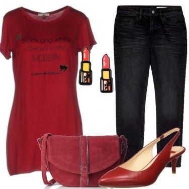 Outfit Rosso tutto il giorno