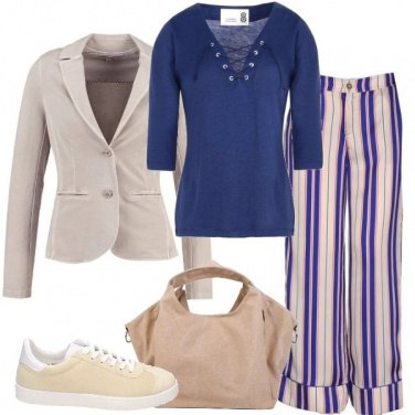Outfit I pantaloni a righe
