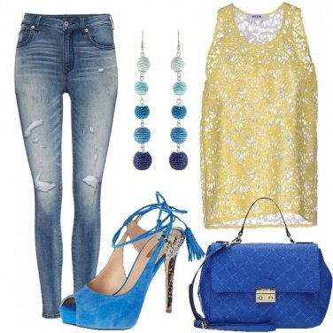 Outfit Denim e tacco alto