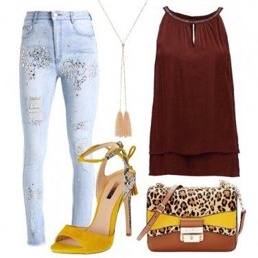 Outfit Skinny e tacco alto