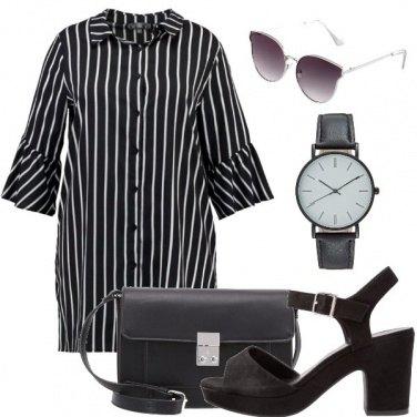 Outfit Stilosa in bianco e nero