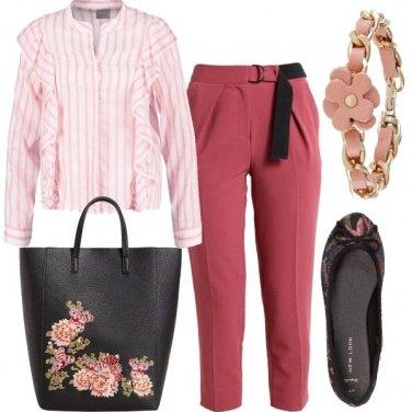 Outfit Ufficio in fiore