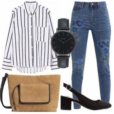 Outfit Camicia rigata