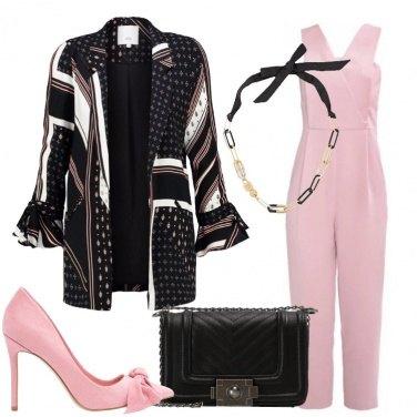 Outfit Jumpsuit rosa