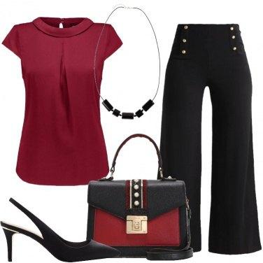 Outfit Bordeaux e nero