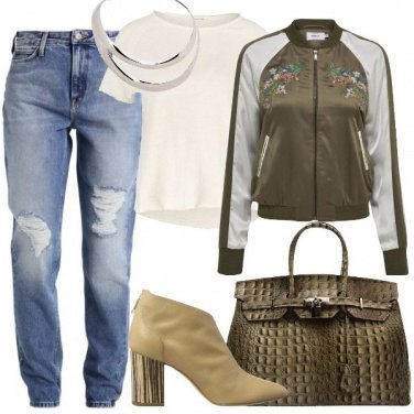 Outfit Stivaletti e bomber
