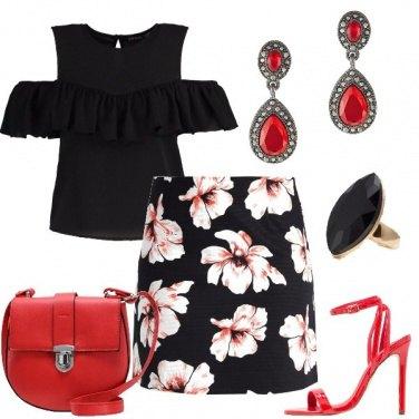 Outfit La serata in rosso e nero