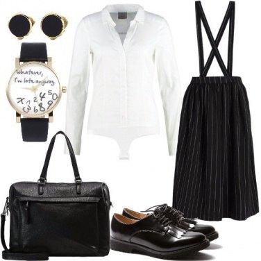 Outfit Preppy con accenni mannish