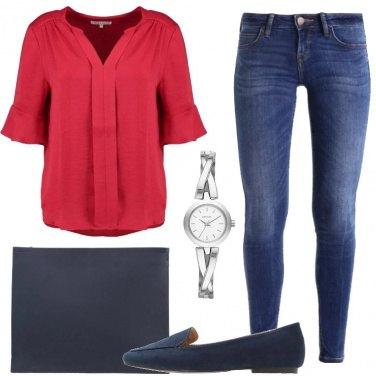 Outfit Camicetta e jeans al lavoro