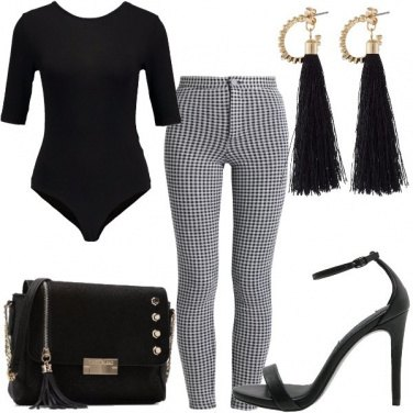 Outfit Sexy a quadretti