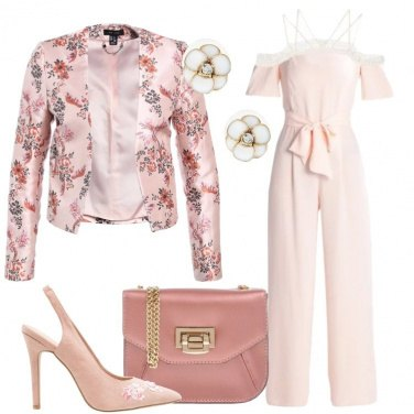Outfit Blazer in fantasia floreale