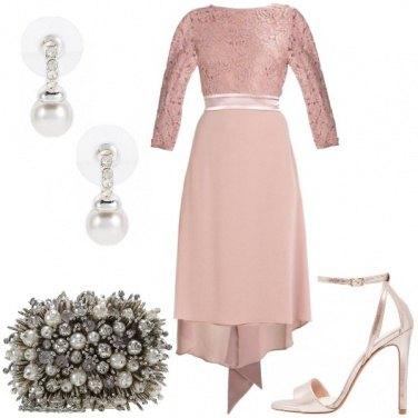 Outfit Cerimonia in cipria