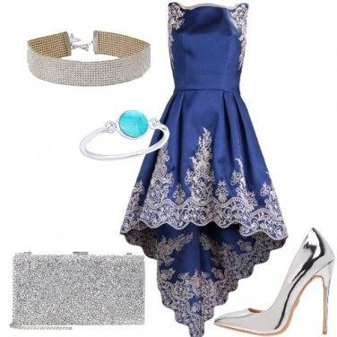Outfit Blu e argento