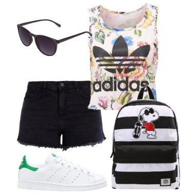 Outfit Zaino black and white