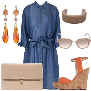 Outfit Abito chemisier