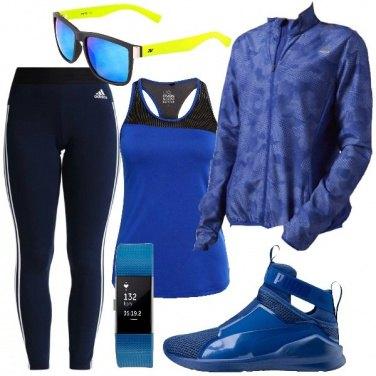 Outfit Composizione in blu
