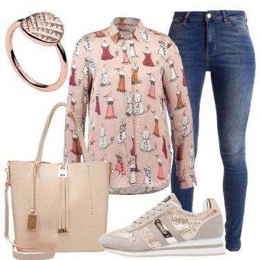 Outfit La camicia con fantasia