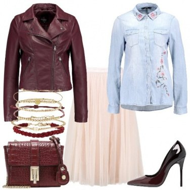 Outfit Jeans e tulle