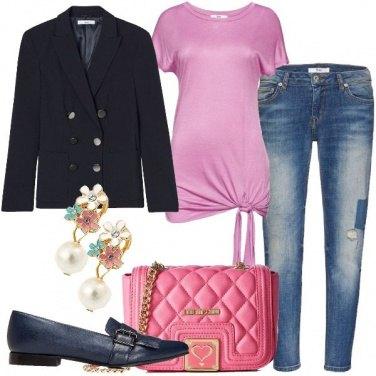 Outfit In doppiopetto blu