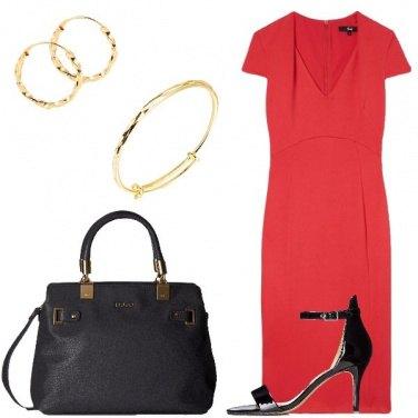 Outfit Il tubino rosso