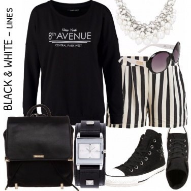 Outfit BLACK & WHITE LINES