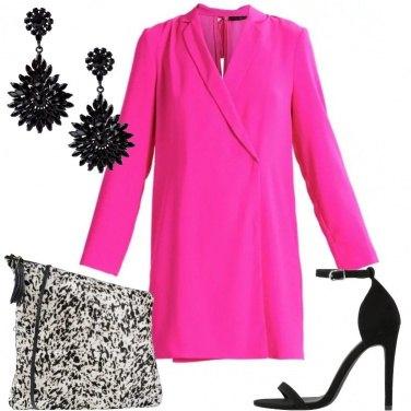 Outfit Maxi pochette in bianco e nero