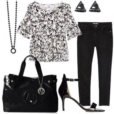 Outfit Bianco e nero di giorno