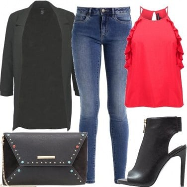 Outfit Top rosso