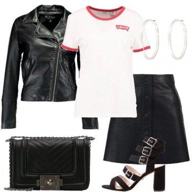 Outfit La minigonna rock