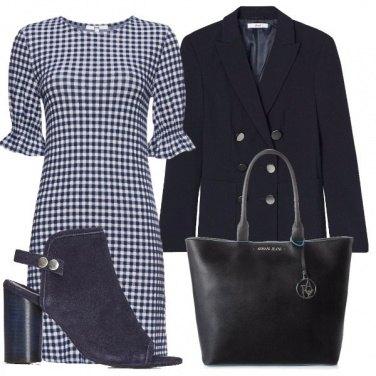 Outfit Vestito microfantasia