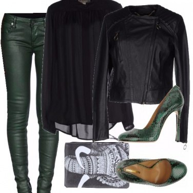 Outfit Rock on green