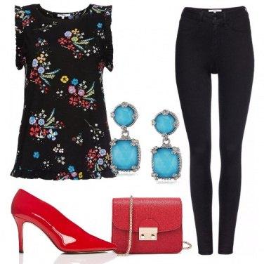 Outfit La blusa coi fiorellini