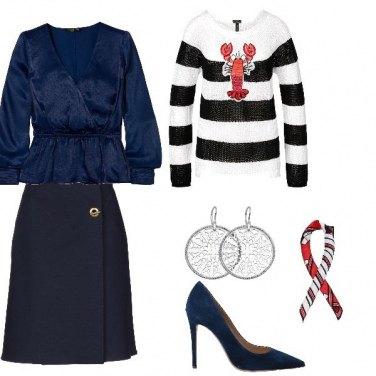 Come abbinare la blusa tinta unita blu: 94 Outfit Donna