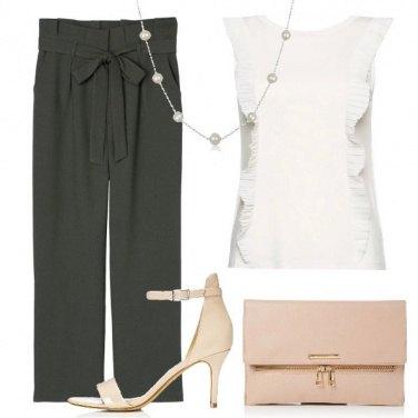 Outfit Garbata e plissettata