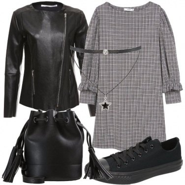 Outfit Abito check
