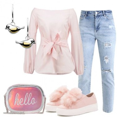 Outfit La camicetta rosa