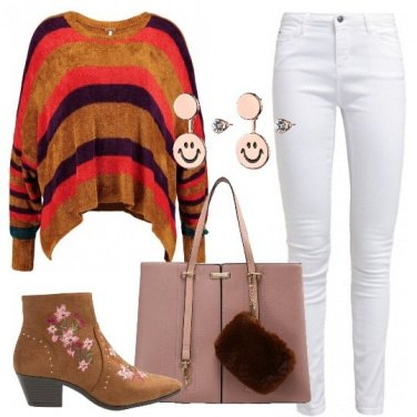 Outfit Glamour con le righe