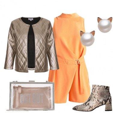 Outfit La giacca trapuntata oro