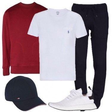 Outfit La felpa bordeaux