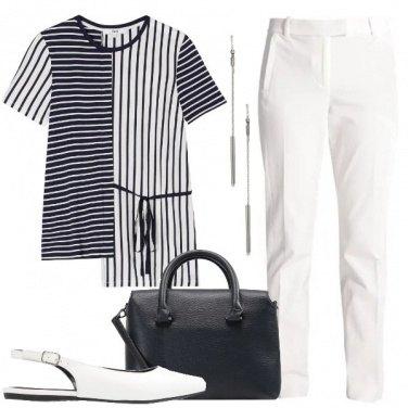 Outfit Righe Bon Ton